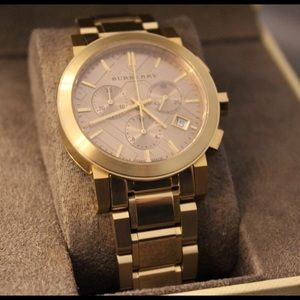 Gold Burberry Unisex Watch